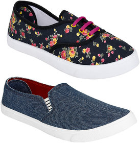 Super Women Combo pack of 2 Sneakers Shoes
