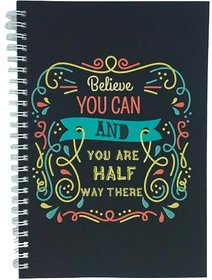 The Crazy Me Believe you can and you are half way there Spiral Notbook(A5)