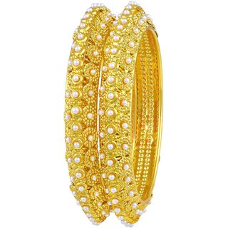 Asmitta Glimmery Traditional Gold Plated Bangles For Women