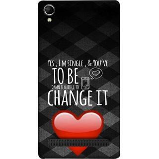 FUSON Designer Back Case Cover For Intex Aqua Power Plus :: Intex Aqua Power + (Damn Beautiful To Change It Hearts Love Pure )