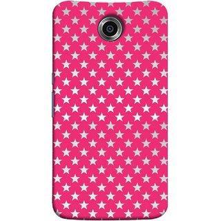 FUSON Designer Back Case Cover For Motorola Nexus 6 :: Motorola Nexus X :: Motorola Moto X Pro :: Google Nexus 6 (Small Lot Of Stars Red Back Shining Glossy Baby)