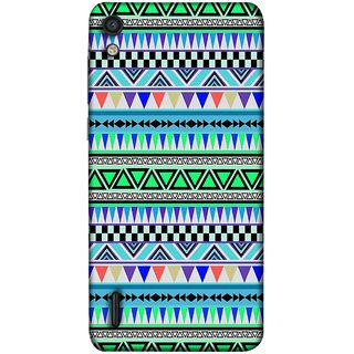 FUSON Designer Back Case Cover For Huawei Ascend P7 (Tribal Patterns Colourful Eye Catching Verity Different )