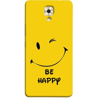 FUSON Designer Back Case Cover For Gionee M6 Plus (Yellow Background Cute Smiling Smiley Big Smile)