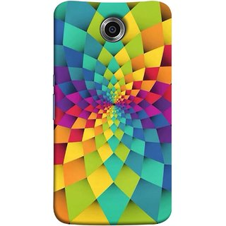 FUSON Designer Back Case Cover For Motorola Nexus 6 :: Motorola Nexus X :: Motorola Moto X Pro :: Google Nexus 6 (Polygonal Background Colorful Abstract Geometric Best)