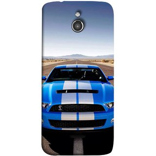 FUSON Designer Back Case Cover For InFocus M2 ( Road Shelby Mustang Engine Shelby Beautiful Blue)