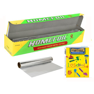 Homefoil Food Wrapping Aluminium Foil 9 MTR with Free Pocket tissue