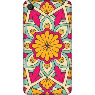Print Opera Hard Plastic Designer Printed Phone Cover for Vivo X7 Colorful Colorful flowers pattern