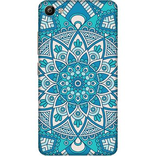 Print Opera Hard Plastic Designer Printed Phone Cover for Vivo V5 Plus Blue pattern
