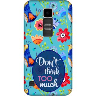 Print Opera Hard Plastic Designer Printed Phone Cover for Lg K10 Dont think too much blue background