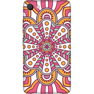 Print Opera Hard Plastic Designer Printed Phone Cover for Vivo X7 Ethenic Pink pattern