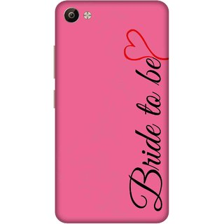 Print Opera Hard Plastic Designer Printed Phone Cover for Vivo V5 Plus Bride to be with pink background