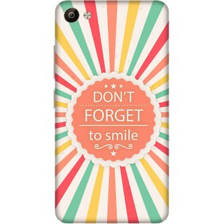 Print Opera Hard Plastic Designer Printed Phone Cover for Vivo V5 Plus Dont forget to smile