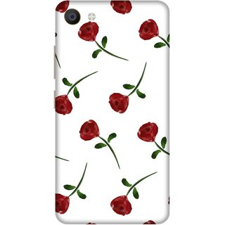Print Opera Hard Plastic Designer Printed Phone Cover for Vivo X7 Artistic red flower with white background