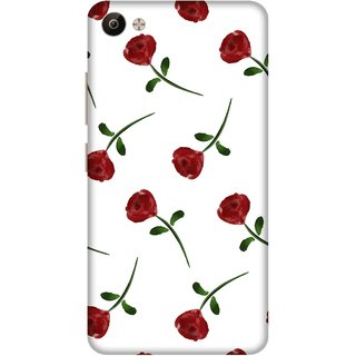 Print Opera Hard Plastic Designer Printed Phone Cover for Vivo V5 Plus Artistic red flower with white background