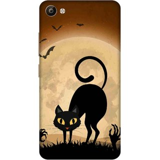 Print Opera Hard Plastic Designer Printed Phone Cover for Vivo V5 Plus Halloween scary black cat