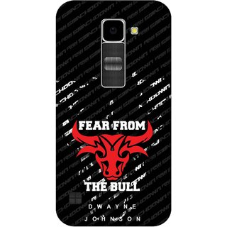 Print Opera Hard Plastic Designer Printed Phone Cover for Lg K10 The red and white bull