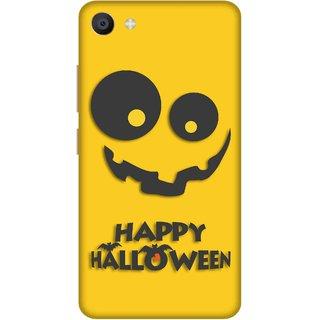 Print Opera Hard Plastic Designer Printed Phone Cover for Vivo X7 Happy halloween in black and yellow