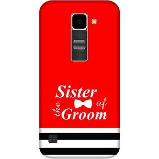 Print Opera Hard Plastic Designer Printed Phone Cover for Lg K10 Sister of groom red background