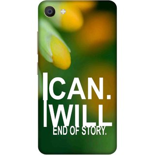 Print Opera Hard Plastic Designer Printed Phone Cover for Vivo X7 I can i will end of story green background