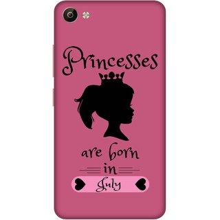 Print Opera Hard Plastic Designer Printed Phone Cover for Vivo V5 Plus Princess are born in july