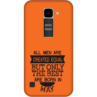 Print Opera Hard Plastic Designer Printed Phone Cover for Lg K10 Best man born in May