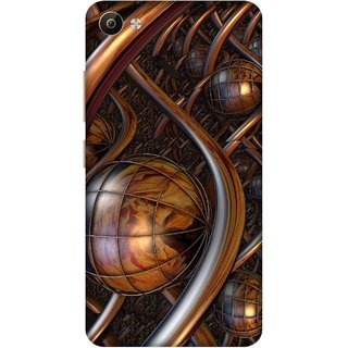 Print Opera Hard Plastic Designer Printed Phone Cover for Vivo V5 Plus Artistic brown metal design