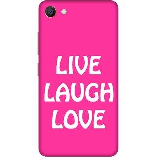 Print Opera Hard Plastic Designer Printed Phone Cover for Vivo X7 Live laugh love pink and white
