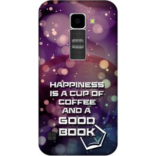 Print Opera Hard Plastic Designer Printed Phone Cover for Lg K10 Happiness is a cup of coffee