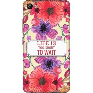 Print Opera Hard Plastic Designer Printed Phone Cover for Vivo V5 Plus Life is too short to wait