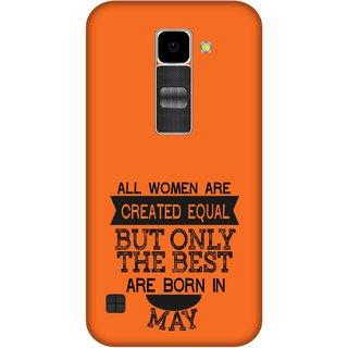 Print Opera Hard Plastic Designer Printed Phone Cover for Lg K10 Best woman born in may