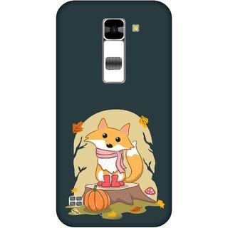 Print Opera Hard Plastic Designer Printed Phone Cover for  Lg K7 Fox cub on wood
