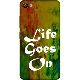 Print Opera Hard Plastic Designer Printed Phone Cover for Vivo V5 Plus Life goes on green background