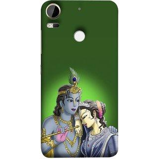 FUSON Designer Back Case Cover For HTC Desire 10 Pro (Peacock Feather Bansuri Flute Gold Jewellery Best Couple)