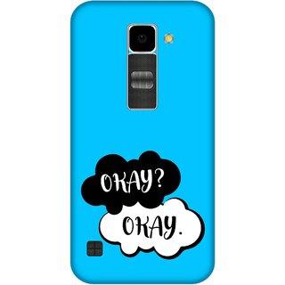 Print Opera Hard Plastic Designer Printed Phone Cover for Lg K10 Okay okay