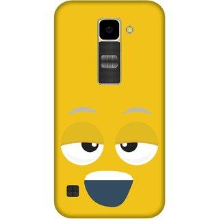Print Opera Hard Plastic Designer Printed Phone Cover for Lg K10 Smiling face yellow