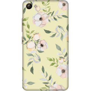 Print Opera Hard Plastic Designer Printed Phone Cover for Vivo V5 Plus Flowers with green leaves