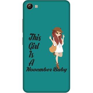 Print Opera Hard Plastic Designer Printed Phone Cover for Vivo V5 Plus November Baby Girl