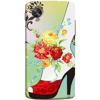 FUSON Designer Back Case Cover For LG Nexus 5 :: LG Google Nexus 5 :: Google Nexus 5 (Nice Shoes Design Red Colour Womens Girls Females )