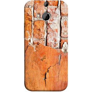 FUSON Designer Back Case Cover For HTC One M9 Plus :: HTC One M9+ :: HTC One M9+ Supreme Camera (Peeling Plaster Bricks White Cement Broken Small Big)