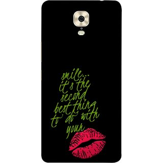 FUSON Designer Back Case Cover For Gionee M6 (To Do With Your Lips Kisses Kiss Lovers Couples)