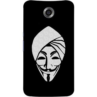 FUSON Designer Back Case Cover For Motorola Nexus 6 :: Motorola Nexus X :: Motorola Moto X Pro :: Google Nexus 6 (Vector Illustration Turban Headdress And Mustache Isolated)
