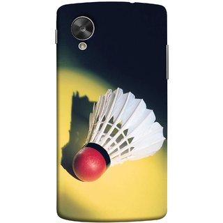 FUSON Designer Back Case Cover For LG Nexus 5 :: LG Google Nexus 5 :: Google Nexus 5 (Isolated On Light Yellow Game Gold Match Winner Loser )