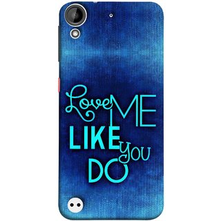 FUSON Designer Back Case Cover For HTC Desire 530 (Baby Couples Nice Quotes Happy Lovely Hard Kisses )