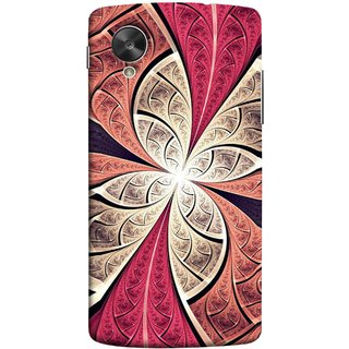 FUSON Designer Back Case Cover For LG Nexus 5 :: LG Google Nexus 5 :: Google Nexus 5 (Heart Shape Pink Leaves Rivers Artist Perfect Waves )