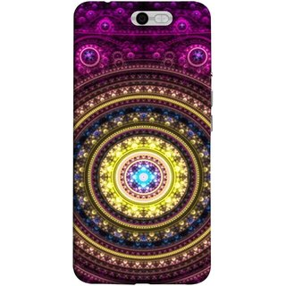FUSON Designer Back Case Cover For InFocus M812 (Best Rangoli Patterns Treditional Photo Wallpapers )