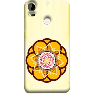 FUSON Designer Back Case Cover For HTC Desire 10 Pro (Best Rangoli Patterns Treditional Photo Wallpapers )