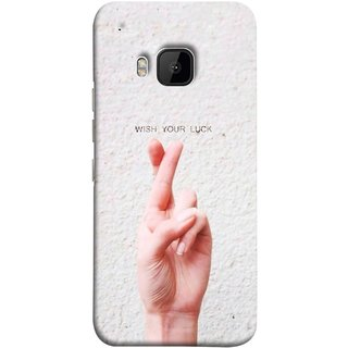 FUSON Designer Back Case Cover For HTC One M9 :: HTC One M9S :: HTC M9 (Always Wish You Best Success Happy Palm )