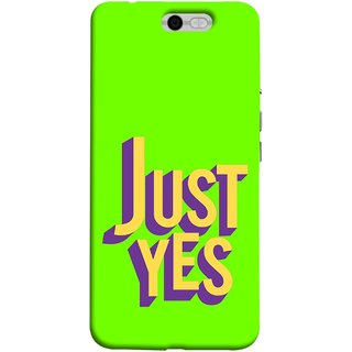 FUSON Designer Back Case Cover For InFocus M812 (Just Green Say Always To Problems Solve Resolve)