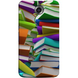FUSON Designer Back Case Cover For Motorola Nexus 6 :: Motorola Nexus X :: Motorola Moto X Pro :: Google Nexus 6 (Stack Of Colorful Books White Pages School)