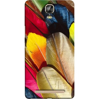 FUSON Designer Back Case Cover For Gionee Marathon M5 Plus (Yellow Balck Brown Golden Gold Silver Parrot Red )
